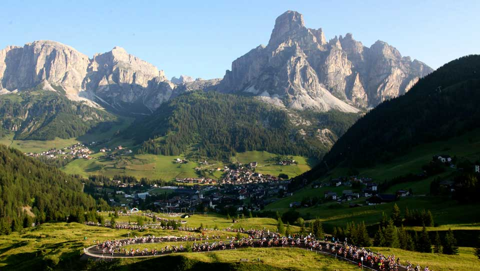 The Maratona dles Dolomites is the most popular cycling sportive in Italy