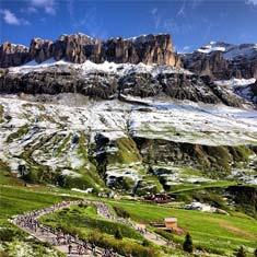 Passo Pordoi Maratona dles Dolomites
