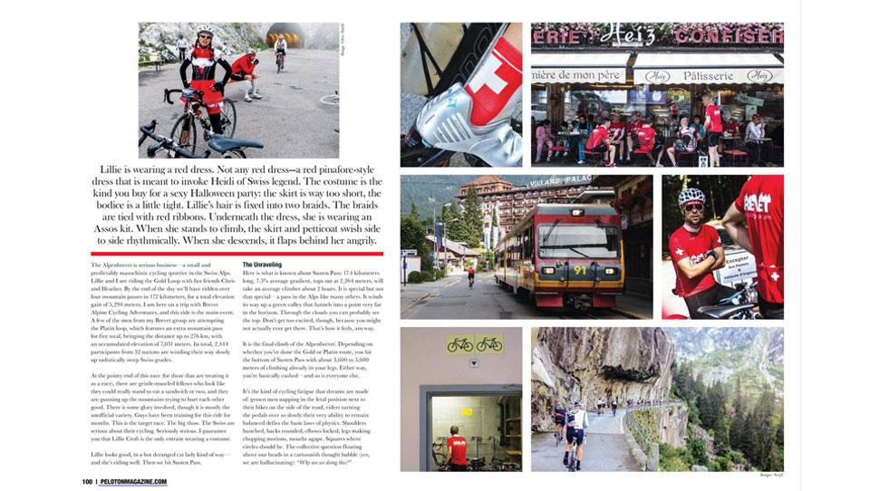 Peloton Magazine Alpenbrevet Article