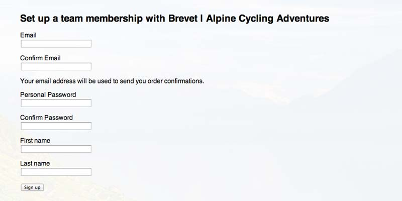 Step 3 in the Order Process for Brevet Cycle Cothing